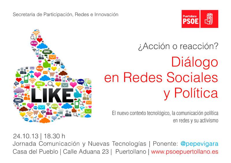 Diálogo en redes sociales y política