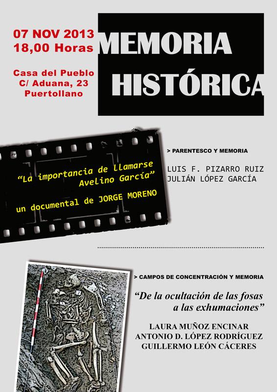 Memoria Histórica – 07.11.13 | 18.00 h. | Casa del Pueblo