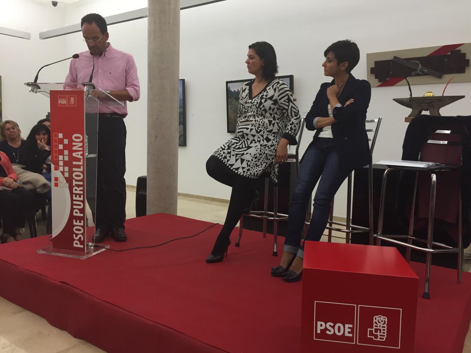 Antonio Hernando en Puertollano: «El único cambio real es el de Pedro Sánchez»