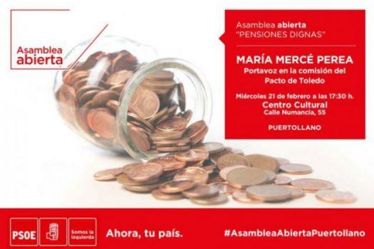El PSOE de Puertollano realizará un acto informativo sobre pensiones
